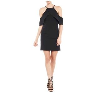 Bardot Black Khloe Cold Shoulder Dress LBD
